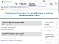 The Project for Promoting an International Exchange at the Hyogo International House (G-Navi) | JASSO