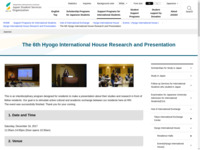 The 6th Hyogo International House Research and Presentation   JASSO