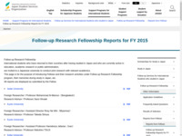 Follow-up Research Fellowship Reports for FY 2015 | JASSO