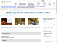The 8th Hyogo International House Research and Presentation   JASSO