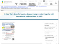 G-Navi Work Shop for learning disaster risk prevention together with international students (June 4, 2017)   JASSO