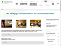 The 10th Hyogo International House Research and Presentation   JASSO